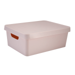 "Realspace™ Medium Storage Box With Lid, 10-15/16 x 14-1/2"" x 5-7/16"", Blush"