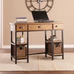 Southern Enterprises Desk BlackBrownGray