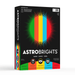 """Astrobrights® Color Paper, 8 1/2"""" x 11"""", FSC® Certified, 24 Lb, 30% Recycled, Assorted Colors, Ream Of 500 Sheets"""