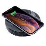 Eggtronic Marble Wireless Charging Pad For Qi-Enabled Devices, 10W, Black, MPBK10
