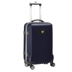 """Denco 2-In-1 Hard Case Rolling Carry-On Luggage, 21""""H x 13""""W x 9""""D, Pittsburgh Penguins, Navy"""