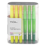 TUL® Highlighters, Chisel Point, Assorted Barrel Colors, Assorted Ink Colors, Pack Of 12 Highlighters