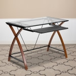 Flash Furniture Glass Computer Desk With