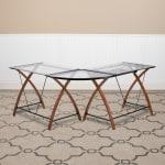 Flash Furniture Contemporary Glass L Shape