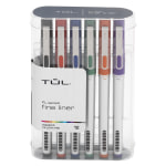 TUL® Fine Liner Porous-Point Pens, Ultra-Fine, 0.4 mm, Silver Barrel, Assorted Ink Colors, Pack Of 12 Pens