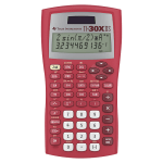 Texas Instruments® TI-30XIIS Handheld Scientific Calculator, Red