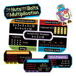 Carson-Dellosa Nuts and Bolts of Multiplication Mini Bulletin Board Set, Grades 2-4