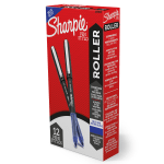Sharpie® Rollerball Pen, Needle Point, 0.5mm, Blue Ink, Pack Of 12