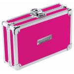 """Vaultz Premium Locking Pencil Box, 8-3/4""""H x 5-1/4""""W x 6""""D, Pink"""