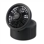 "iLive Bluetooth® Portable Speaker With Fan, 6""H x 4.3""W x 6""D, Black, ISB298B"