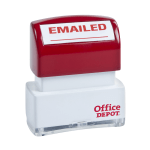 Office Depot Brand Pre Inked Message