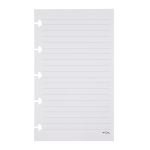 TUL® Discbound Notebook Refill Pages, Assorted Ruling, Mini Size, 120 Pages (60 Sheets), White