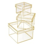 Office Depot® Mini Storage Boxes, Clear, Pack Of 3 Boxes