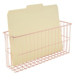 Realspace® Rose Gold Wire Hanging Organizer System, Letter File Attachment