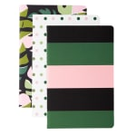 """Office Depot® Brand Mini Journals, 3-1/2"""" x 5-1/2"""", Narrow Ruled, 64 Pages (32 Sheets), Assorted Colors, Pack Of 3 Journals"""