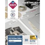 Maco Assorted LaserInkjet File Folder Labels