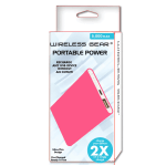 Wireless Gear 5,000 mAh Power Bank, Pink, G0583
