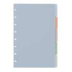 TUL® Discbound Notebook Tab Dividers, Limited Edition, Sunset Shades, Junior Size, Assorted Light Colors, Pack of 5 Dividers
