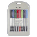 TUL® Permanent Markers, Fine Point, Silver Barrel, Assorted Ink Colors, Pack Of 8 Markers