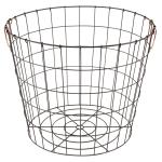 Realspace® Round Metal Wire Basket With Handles, Medium Size, Black/Copper