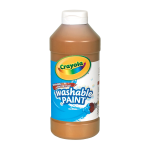 Crayola Washable Paint Brown 16 Oz