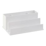 Realspace® White Plastic 5-Compartment Desk Organizer