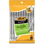 BIC Round Stic Ballpoint Pens - Medium Pen Point - No - Black - 10 / Pack