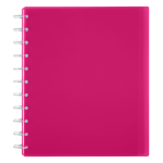 TUL® Discbound Student Notebook, Letter Size, 3-Subject, Narrow Ruled, 150 Pages (75 Sheets), Poly Cover, Pink