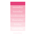 """Office Depot® Brand Undated Weekly List Pad, 4"""" x 9"""", Ombré, US1930-010"""