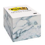 "Post-it® Notes Cube Notes, 3"" x 3"", Marble, Pad Of 620 Sheets"