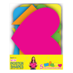 """Royal Brites Poster Board Shapes, 11"""" x 14"""", Assorted Neon, Pack Of 5 Shapes"""