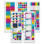 """TUL™ Discbound Notebook Sticker Sheets, 3"""" x 8-1/2"""", Assorted Designs, Pack Of 10 Sheets"""