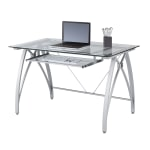 Realspace Vista 48 Inch W Glass Computer Desk
