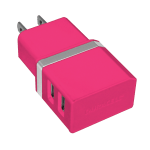 Duracell® Dual USB Wall Charger, Metallic Pink