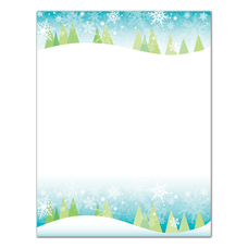 Great Papers Snowy Trees Letterhead 8