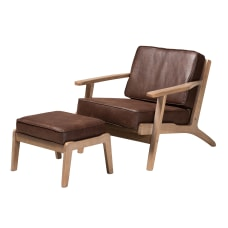 Baxton Studio Sigrid Chair And Ottoman