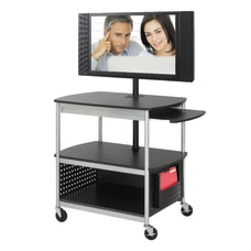 Safco Scoot Mobile AudioVisual Cart Black