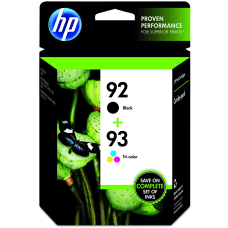 HP 9293 BlackTricolor Original Ink Cartridges