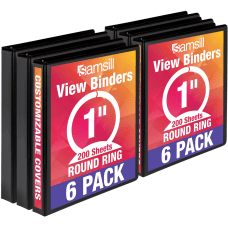 Samsill Value View Binder 1 Rings