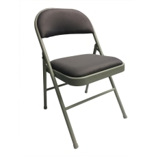 Realspace Upholstered Padded Folding Chair Gray