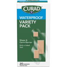 Curad Assorted Waterproof Transparent Bandages 20Box