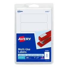 Avery Removable InkjetLaser Multipurpose Labels 5436