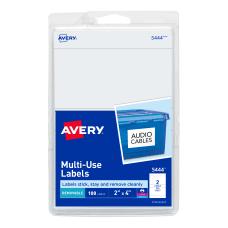 Avery Removable InkjetLaser Multipurpose Labels 5444