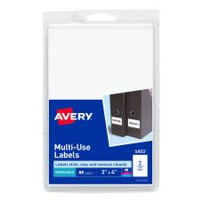 Avery Removable InkjetLaser Multipurpose Labels 5453
