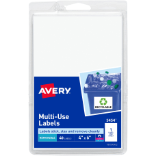 Avery Removable InkjetLaser Multipurpose Labels 5454