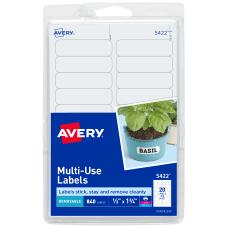 Avery Removable InkjetLaser Multipurpose Labels 5422