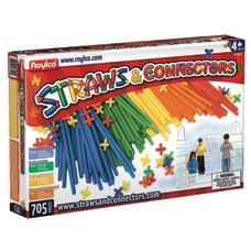 Roylco Straws Connectors Assorted Colors 705