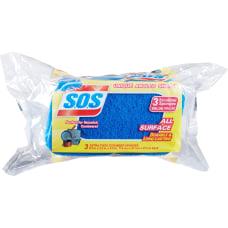 SOS Sponge Scrubbers Pack of 3