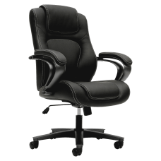 HON Bonded Leather Fixed Arm Executive