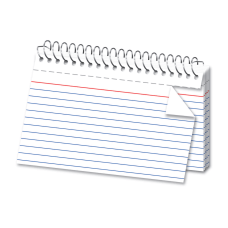 OfficeMax Spiral Ruled Index Cards 4